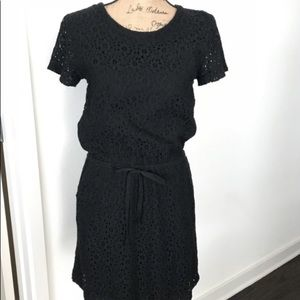 Lou & Grey Black eyelet dress